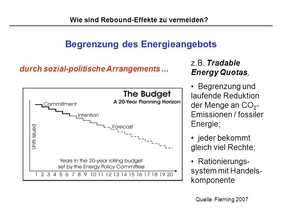 Begrenzung des Energieangebots