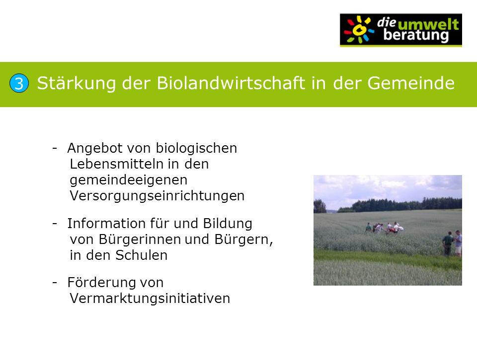 Stärkung der Biolandwirtschaft in der Gemeinde