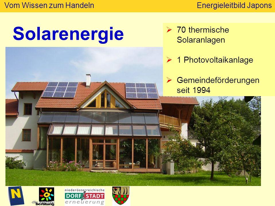 Solarenergie 70 thermische Solaranlagen 1 Photovoltaikanlage