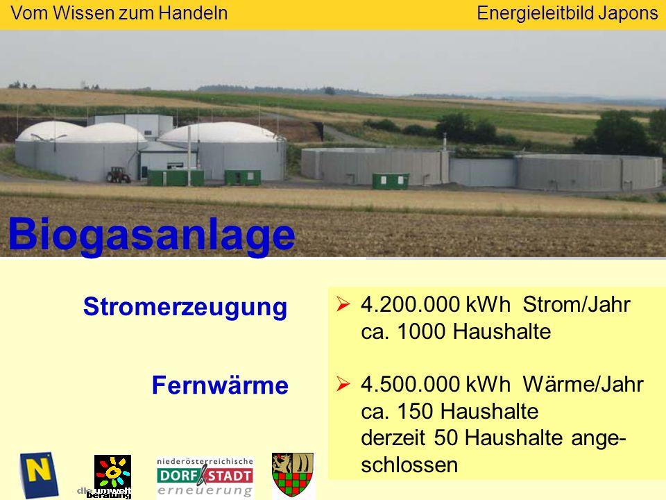 Biogasanlage Stromerzeugung Fernwärme