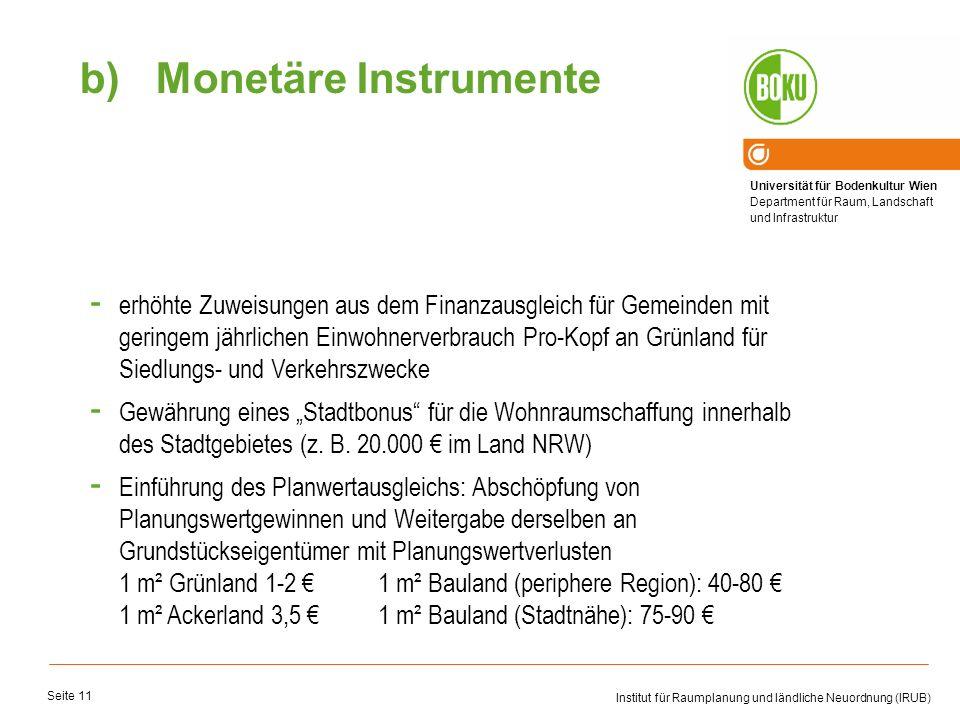 Monetäre Instrumente
