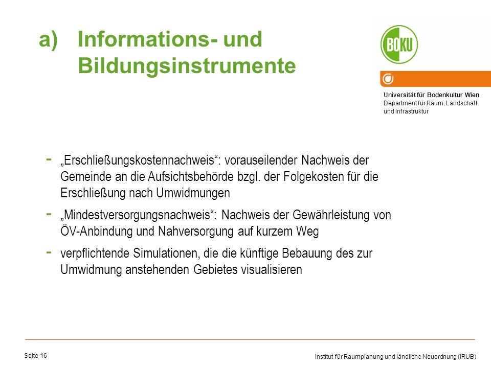 Informations- und Bildungsinstrumente