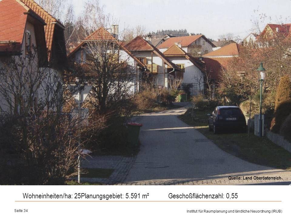 Wohneinheiten/ha: 25 Planungsgebiet: 5.591 m² Geschoßflächenzahl: 0,55