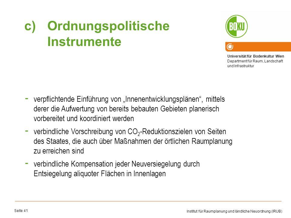Ordnungspolitische Instrumente