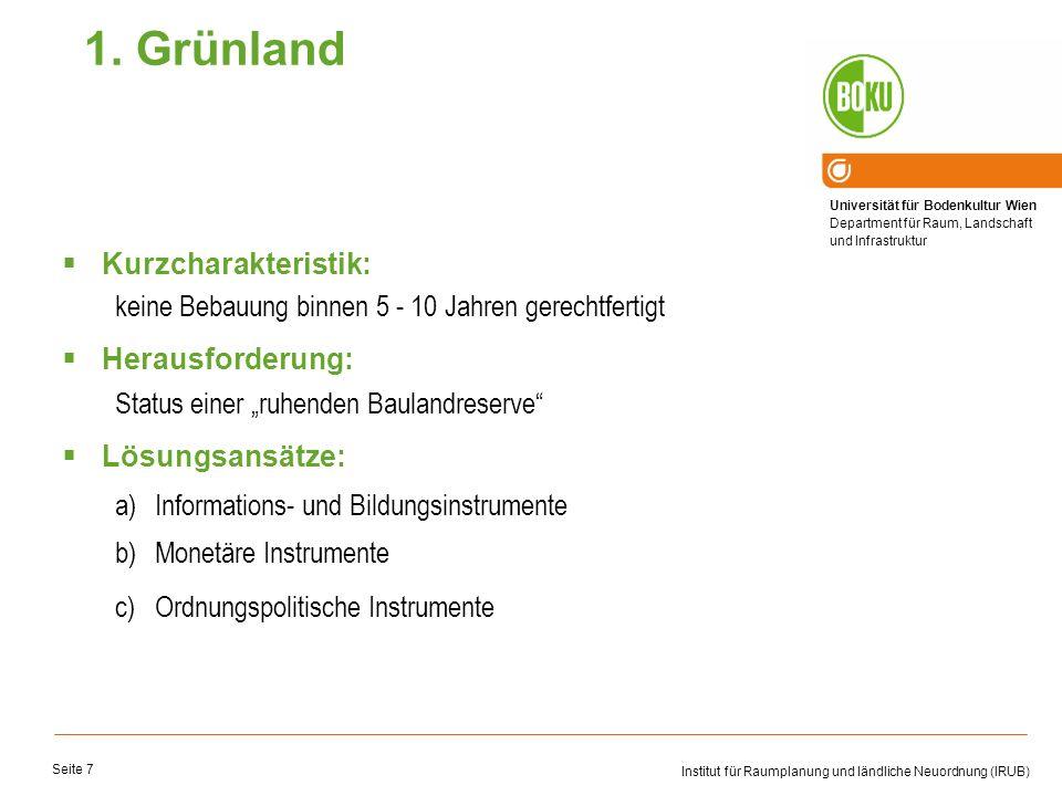 1. Grünland Kurzcharakteristik: