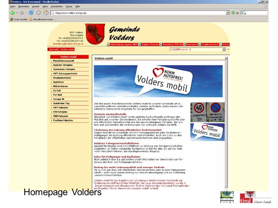 Homepage Volders