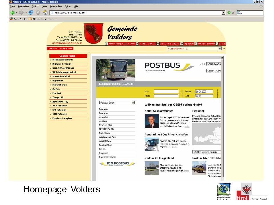Screenshot von Fahrplanauskunft
