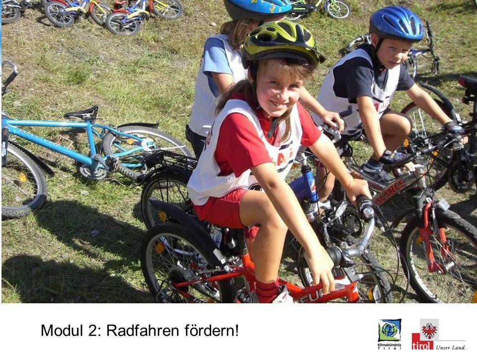 Modul 2: Radfahren fördern!