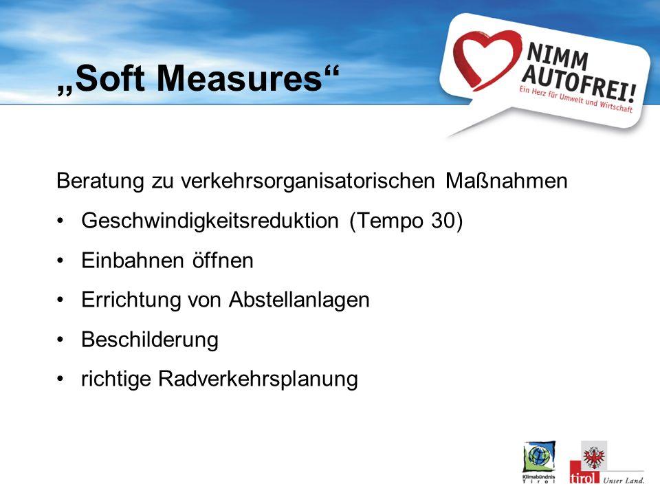 """Soft Measures Beratung zu verkehrsorganisatorischen Maßnahmen"