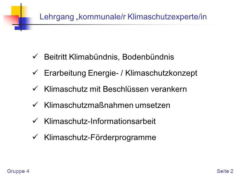 """Lehrgang """"kommunale/r Klimaschutzexperte/in"""