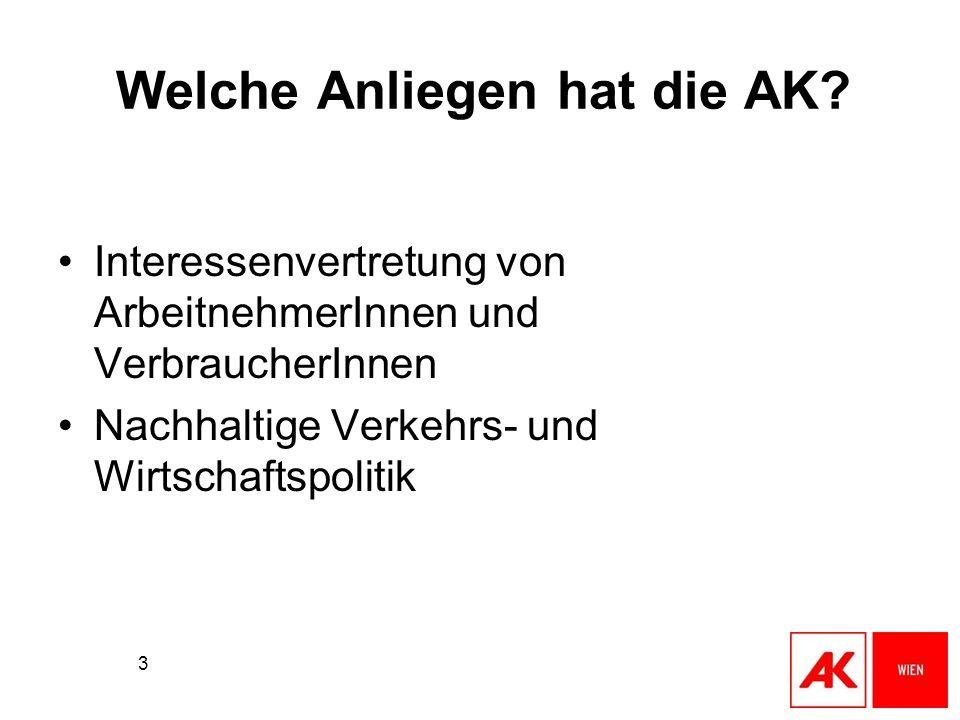 Welche Anliegen hat die AK