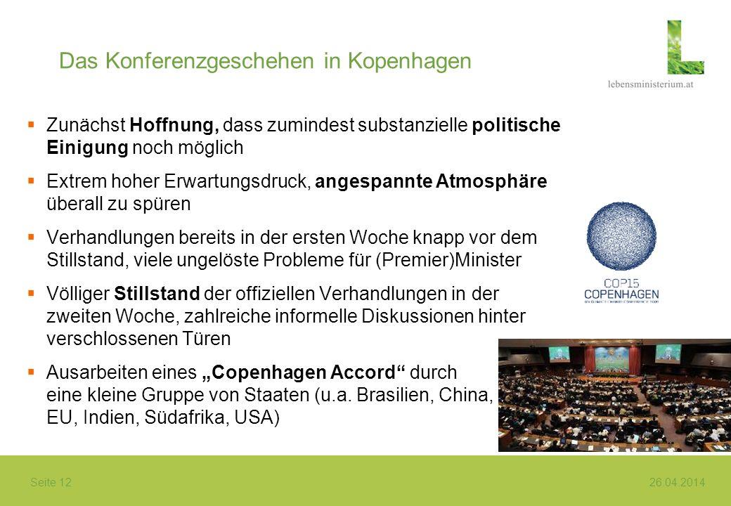 Das Konferenzgeschehen in Kopenhagen