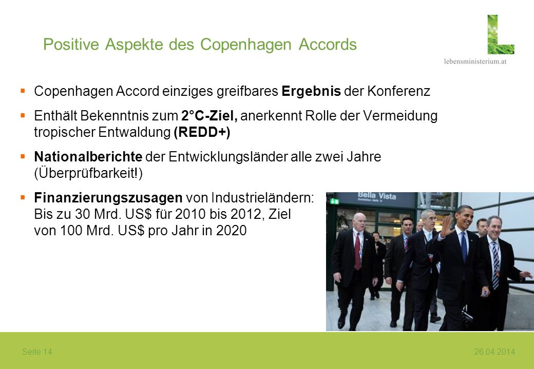 Positive Aspekte des Copenhagen Accords