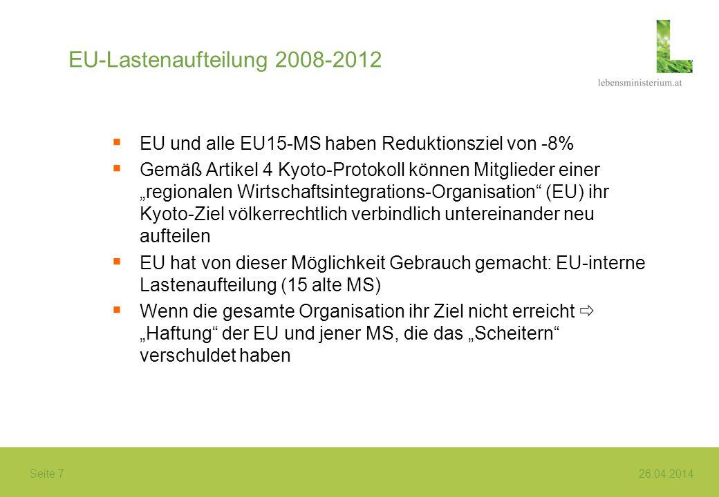 EU-Lastenaufteilung 2008-2012