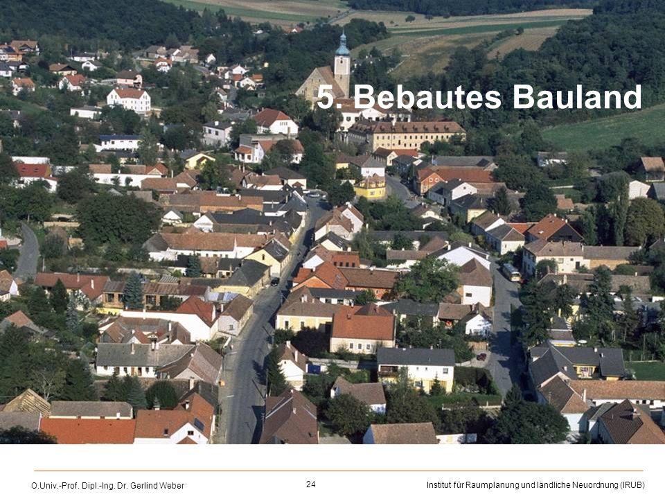 5. Bebautes Bauland