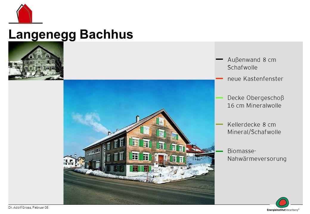 Langenegg Bachhus Außenwand 8 cm Schafwolle neue Kastenfenster