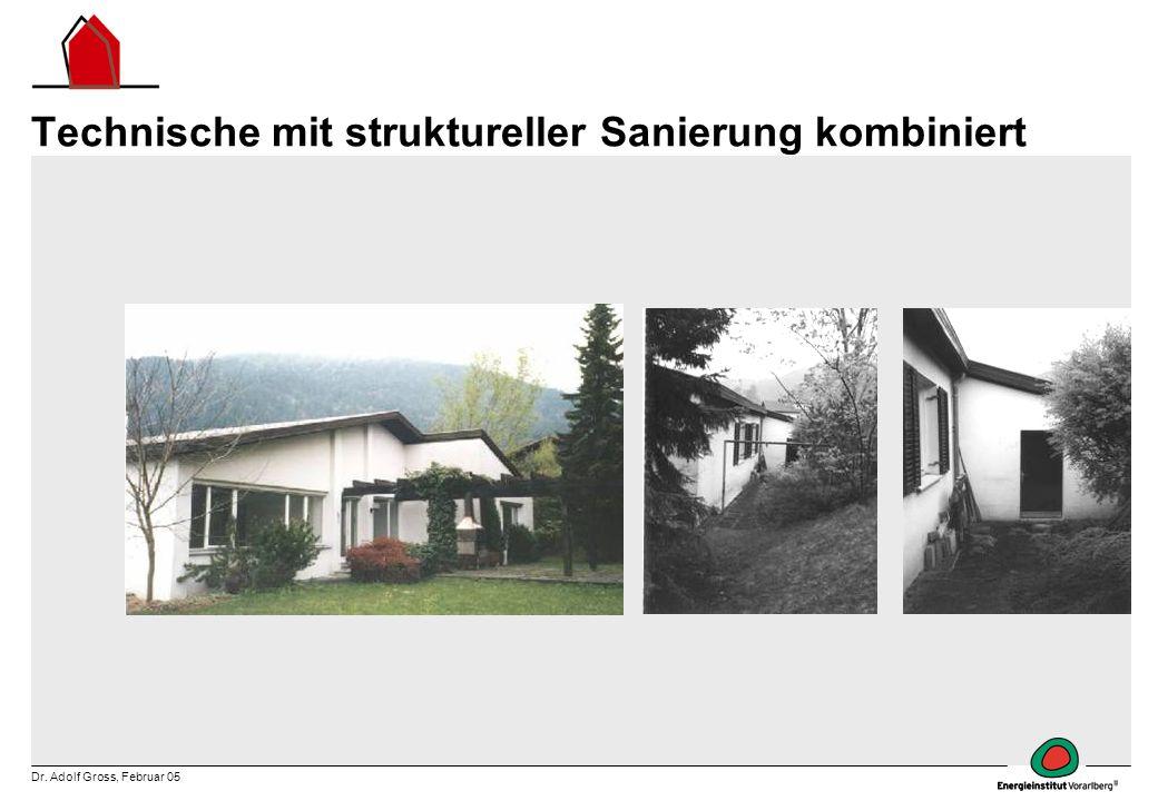 Technische mit struktureller Sanierung kombiniert