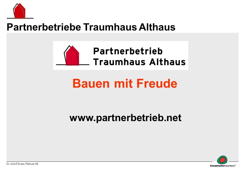 Bauen mit Freude Partnerbetriebe Traumhaus Althaus