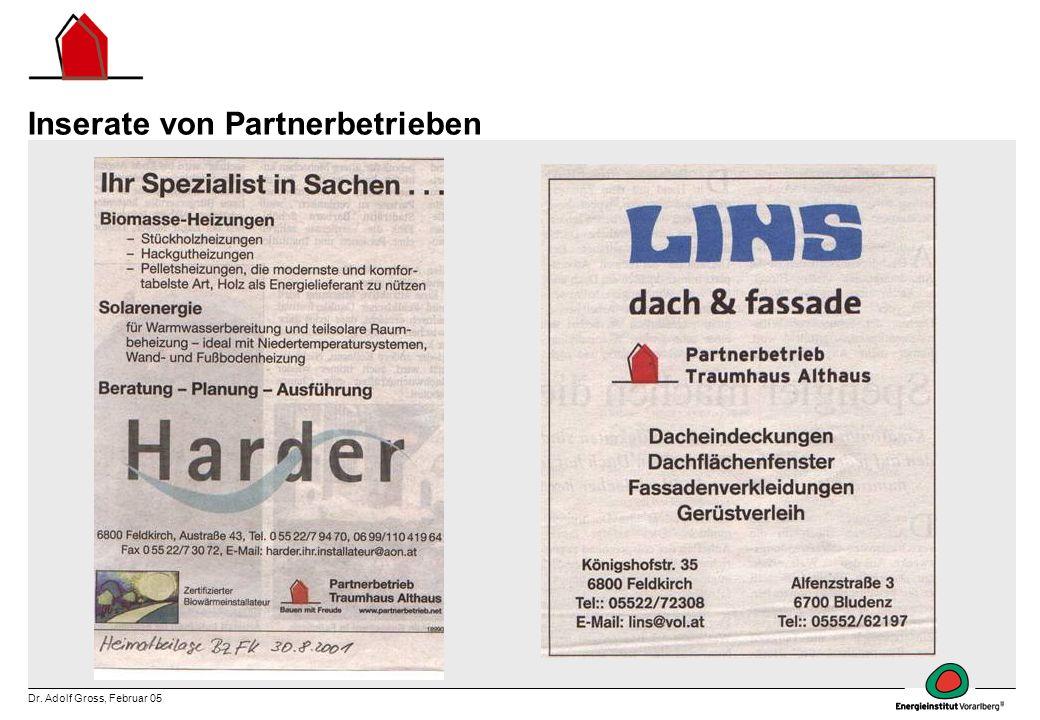 Inserate von Partnerbetrieben