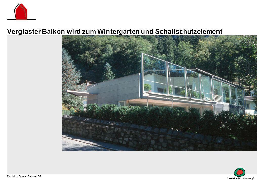Verglaster Balkon wird zum Wintergarten und Schallschutzelement