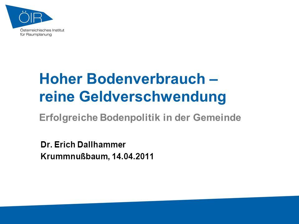 Dr. Erich Dallhammer Krummnußbaum, 14.04.2011
