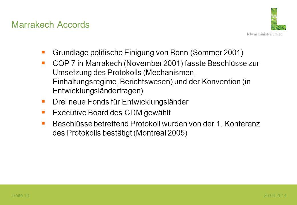 Marrakech Accords Grundlage politische Einigung von Bonn (Sommer 2001)