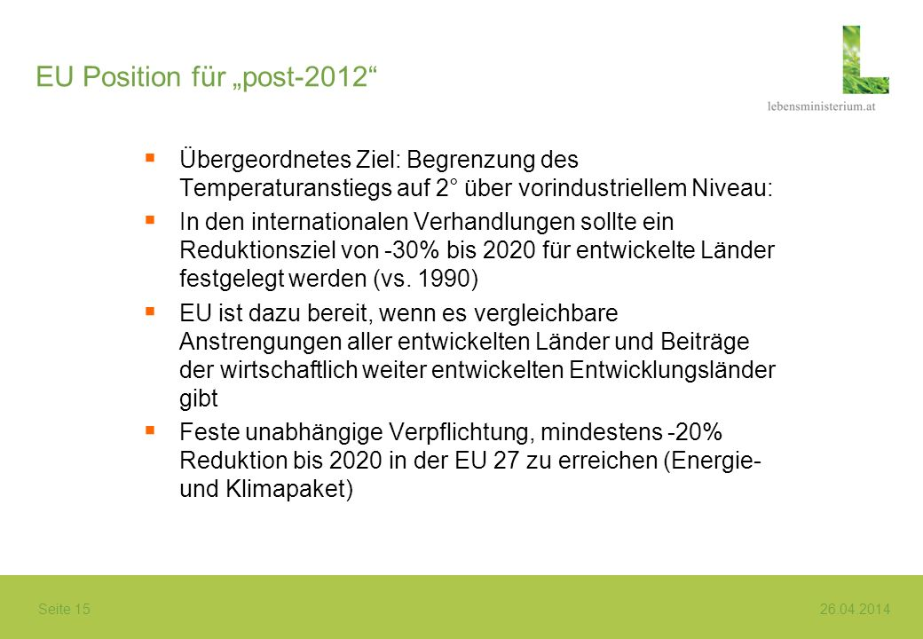 "EU Position für ""post-2012"