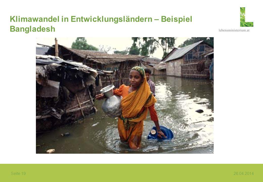 Klimawandel in Entwicklungsländern – Beispiel Bangladesh