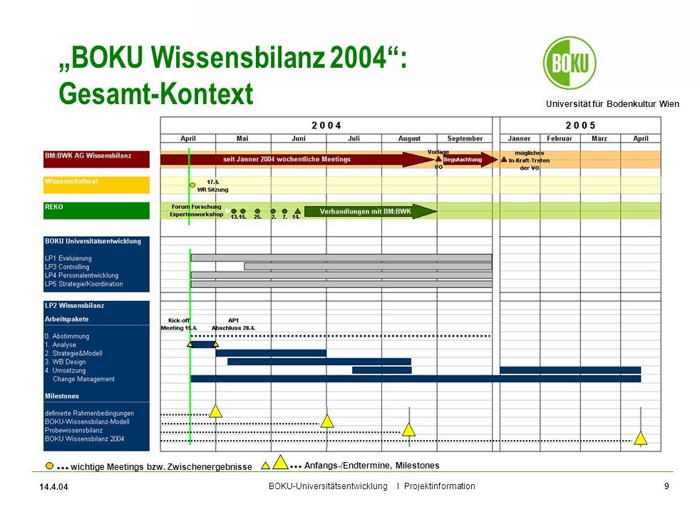 """BOKU Wissensbilanz 2004 : Gesamt-Kontext"