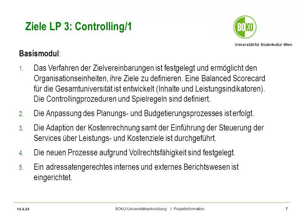 Ziele LP 3: Controlling/1