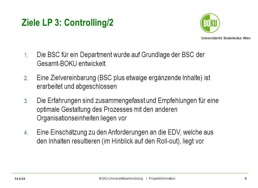 Ziele LP 3: Controlling/2