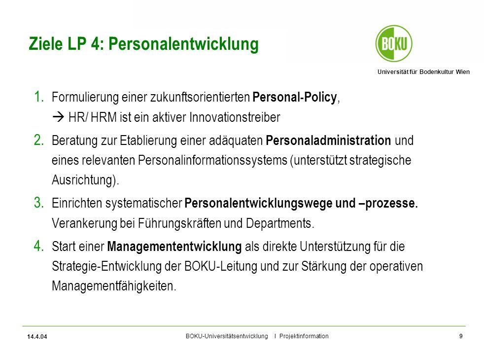 Ziele LP 4: Personalentwicklung