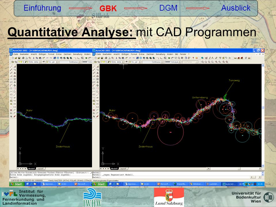 Quantitative Analyse: mit CAD Programmen