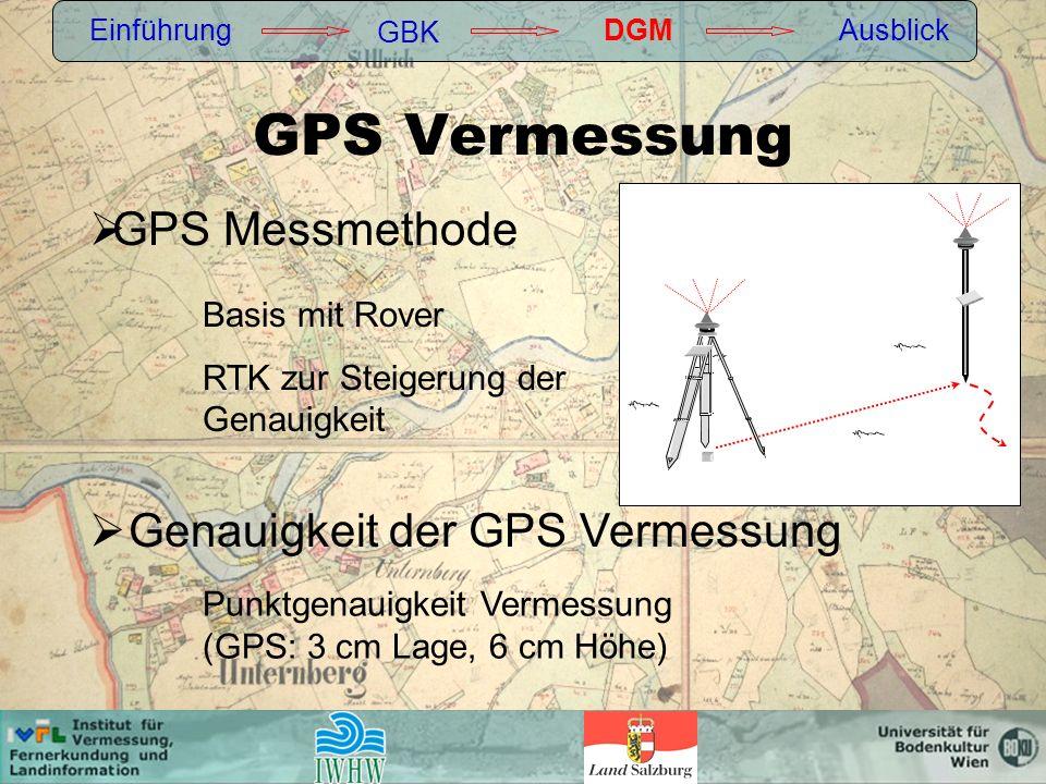 GPS Vermessung GPS Messmethode Genauigkeit der GPS Vermessung