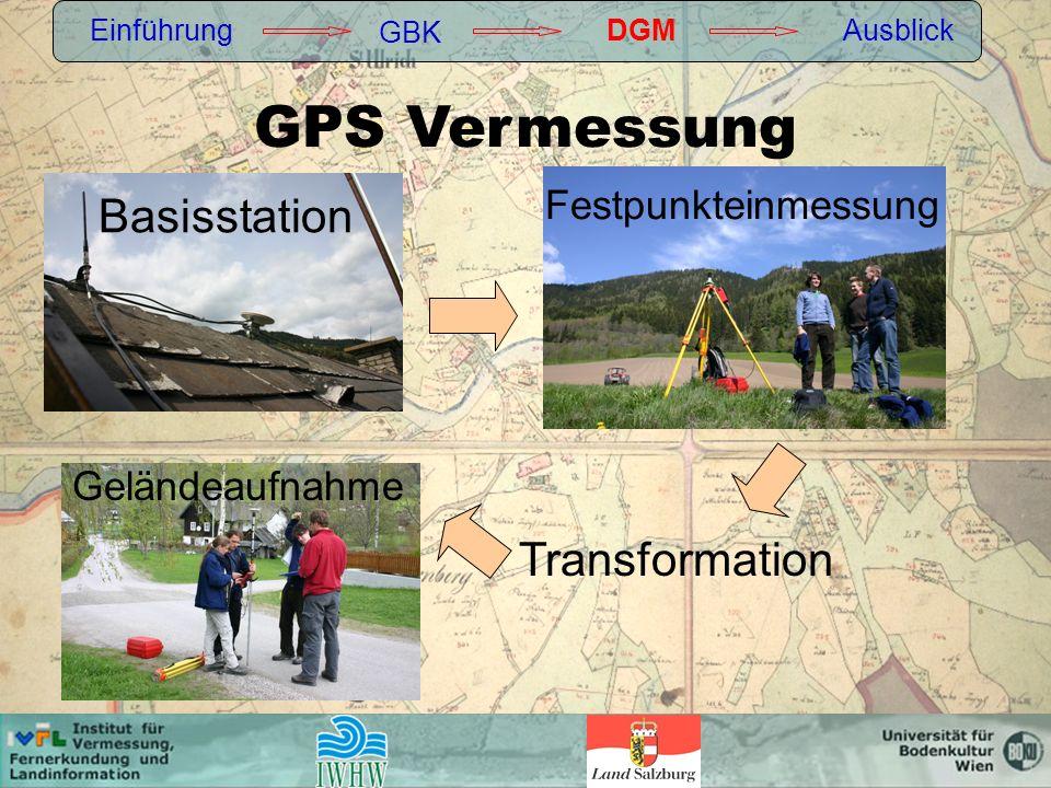 GPS Vermessung Basisstation Transformation Festpunkteinmessung