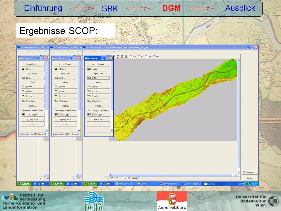 Einführung GBK DGM Ausblick Ergebnisse SCOP:
