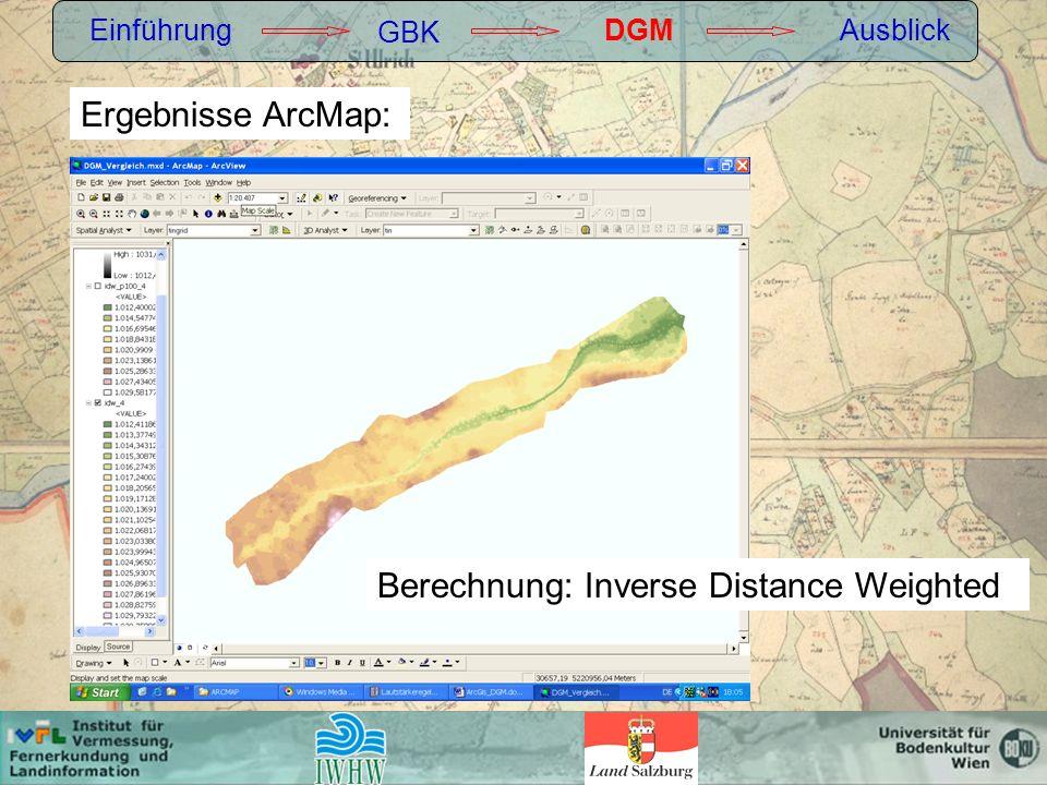 Berechnung: Inverse Distance Weighted