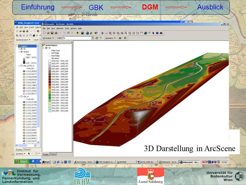 3D Darstellung in ArcScene