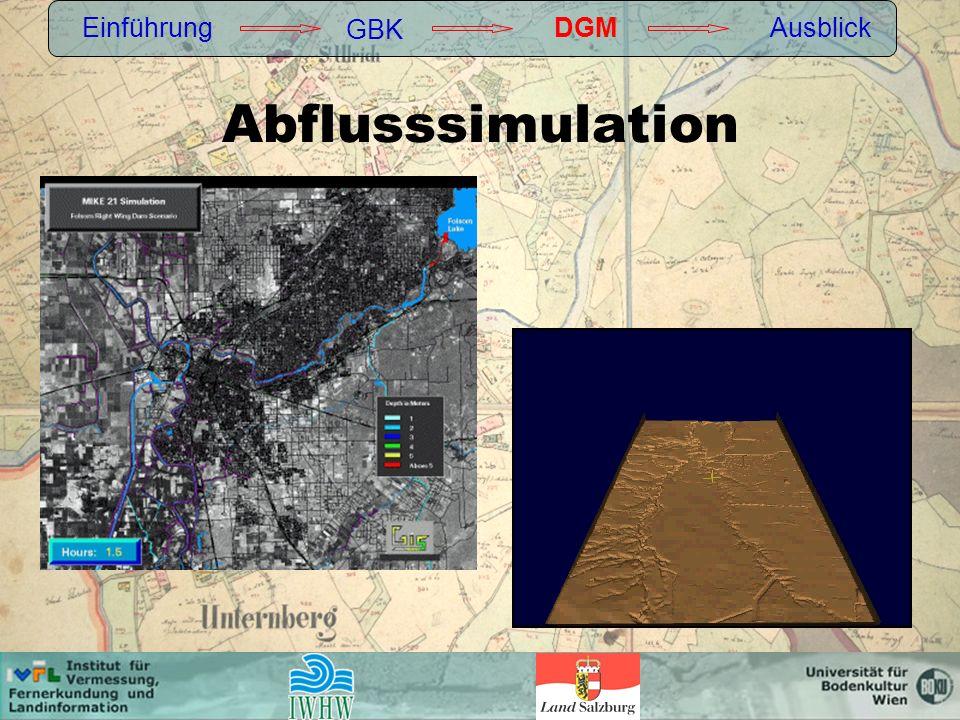 Einführung GBK DGM Ausblick Abflusssimulation