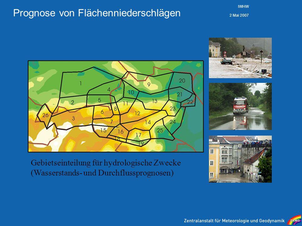 Prognose von Flächenniederschlägen