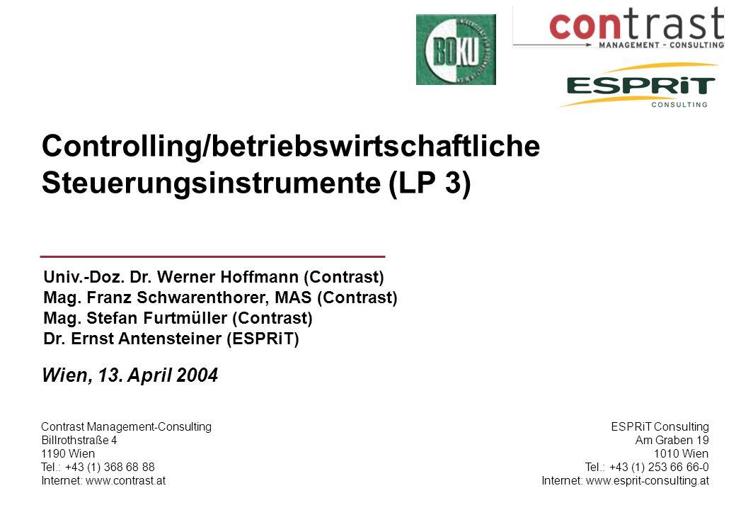 Controlling/betriebswirtschaftliche Steuerungsinstrumente (LP 3)