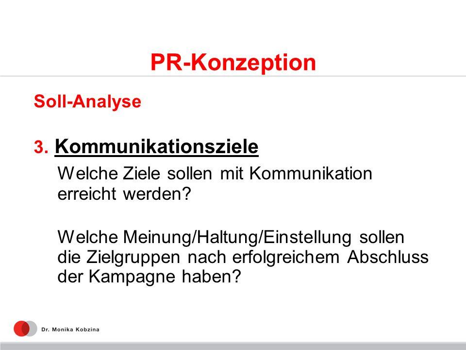 PR-Konzeption Welche Ziele sollen mit Kommunikation erreicht werden
