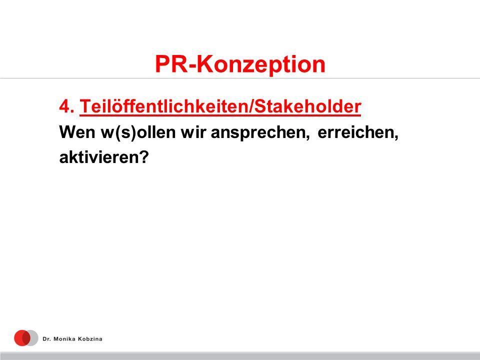 PR-Konzeption 4. Teilöffentlichkeiten/Stakeholder