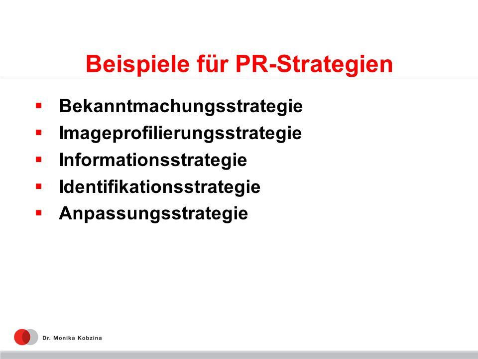 Beispiele für PR-Strategien