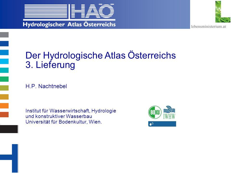 Der Hydrologische Atlas Österreichs 3. Lieferung