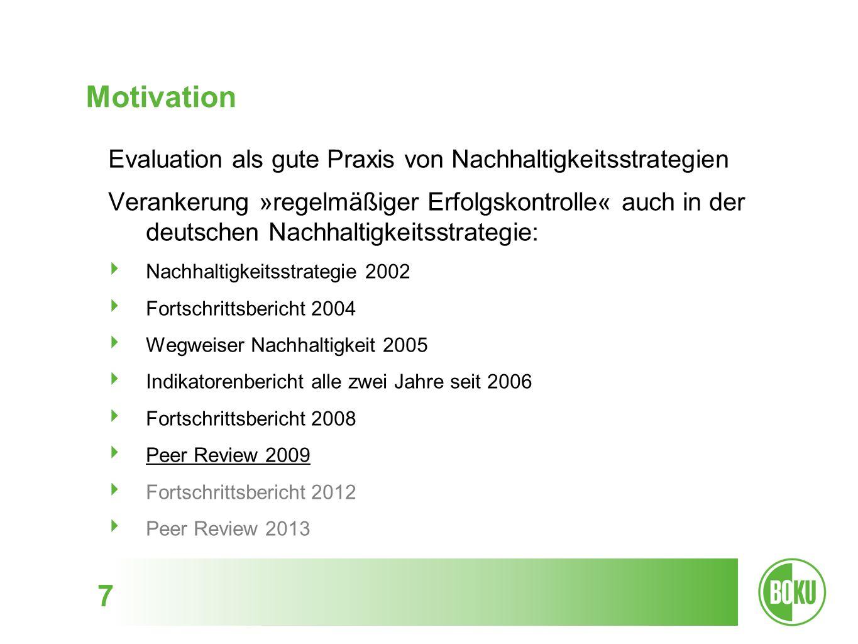 Motivation Evaluation als gute Praxis von Nachhaltigkeitsstrategien