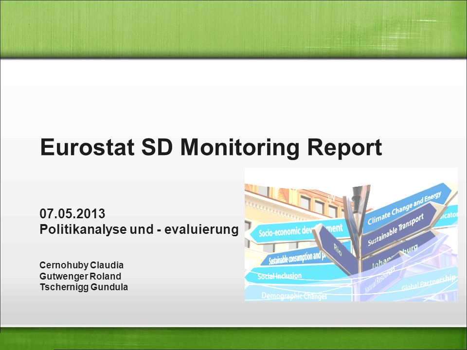 Eurostat SD Monitoring Report