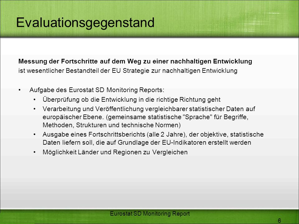 Evaluationsgegenstand