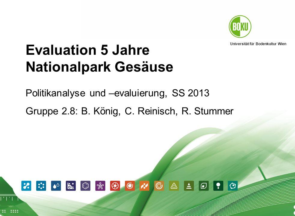 Evaluation 5 Jahre Nationalpark Gesäuse