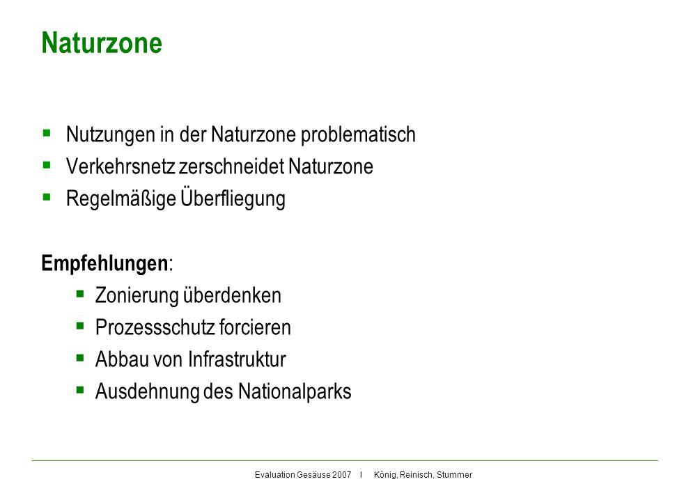 Naturzone Nutzungen in der Naturzone problematisch